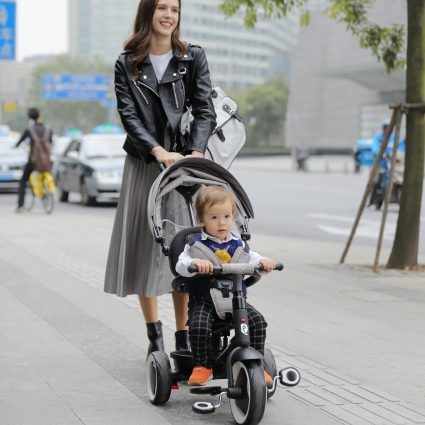 Трехколесный складной велосипед Q Play аквамарин (трансформер)